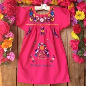 Other - Mexican embroidered dresses size 4-5 Years old